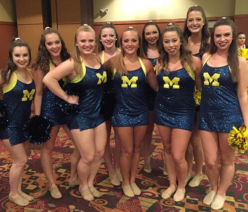 University of Michigan dance team Game Day Uniform by The Line Up