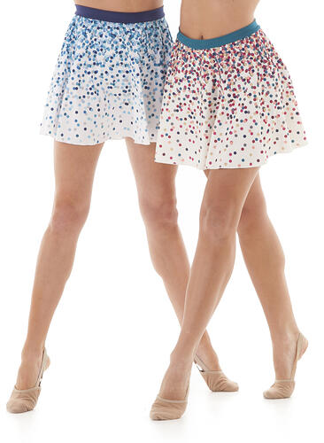 The Line Up Confetti skirts with dye sublimation print