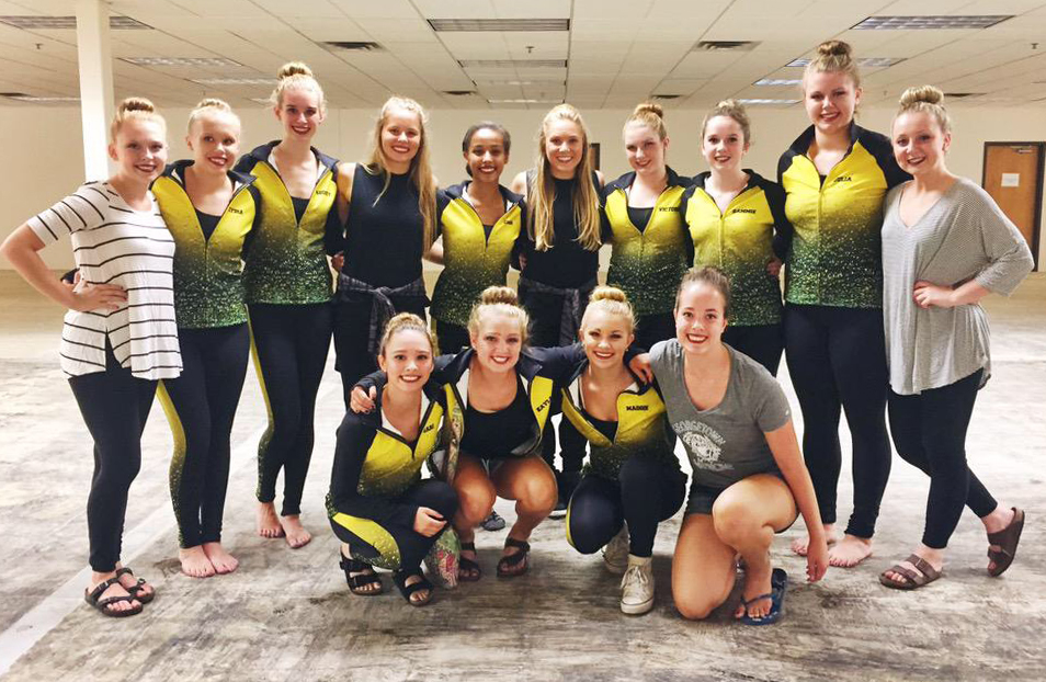 Ashwaubenon Dance Team 2015-2016 warm ups, The Line Up, Behind the scenes video shoot