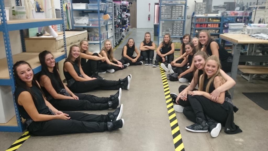 The Line Up behind the scenes of the 25 year anniversary video, St. Thomas Dance Team 2015