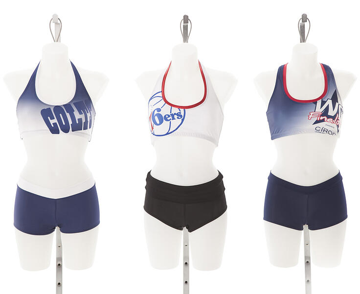 Practice Tops 2015, Indianapolis Colts Cheerleaders, 76ers dancers, Washington Wizards Dancers, The Line Up