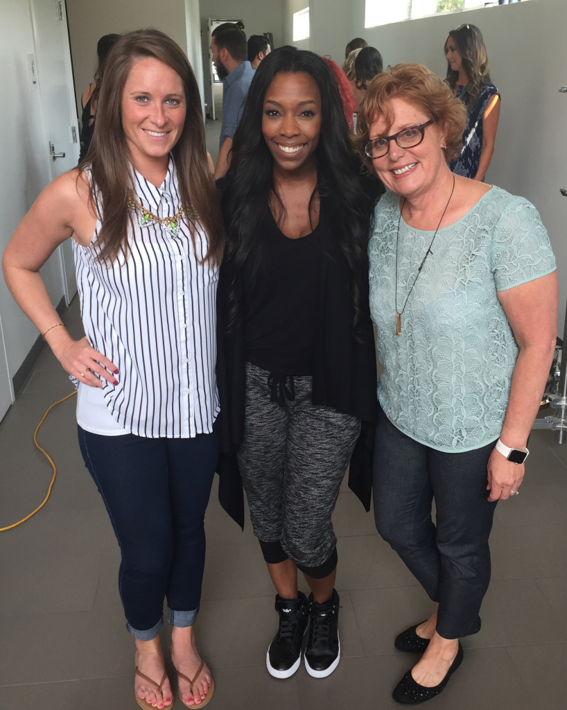 Luvabulls Coach Shante Roberts with Deb and Megan from The Line Up