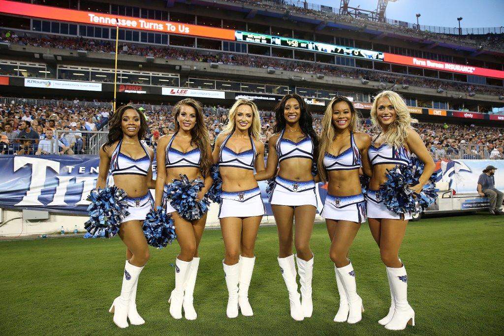 NFL cheerleader uniforms, New Uniforms, Titans Cheerleaders, 2015, The Line Up