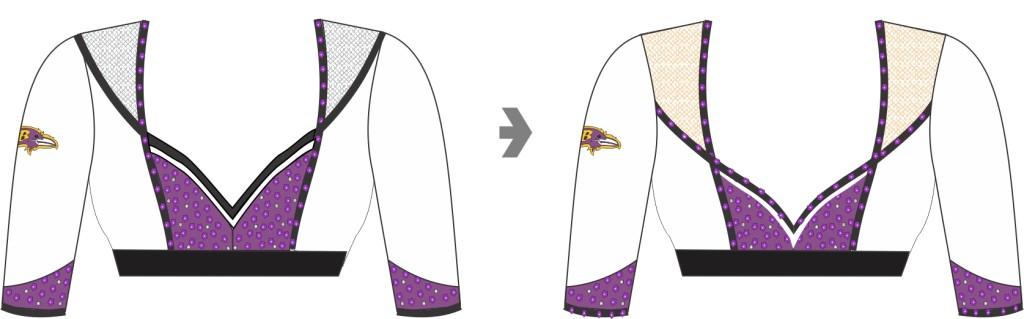 White Baltimore Ravens uniform top, The Line Up