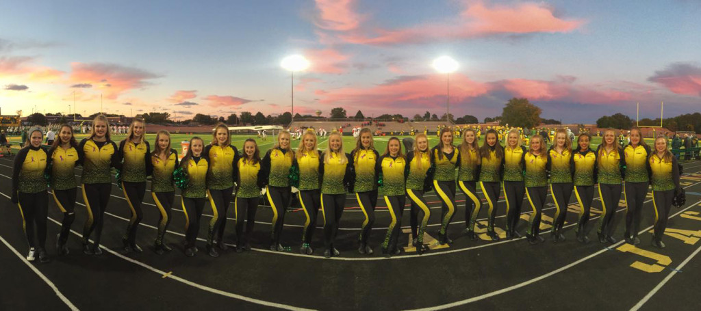 Ashwaubenon Dance Team Jaguaress, team warm up, 2015-2016, The Line Up