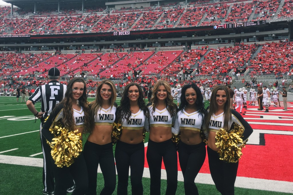 Western Michigan University Dance team uniforms, The Line Up, football game