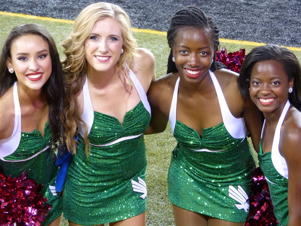 University of North Texas Dance team, sparkly dress uniforms, The Line Up