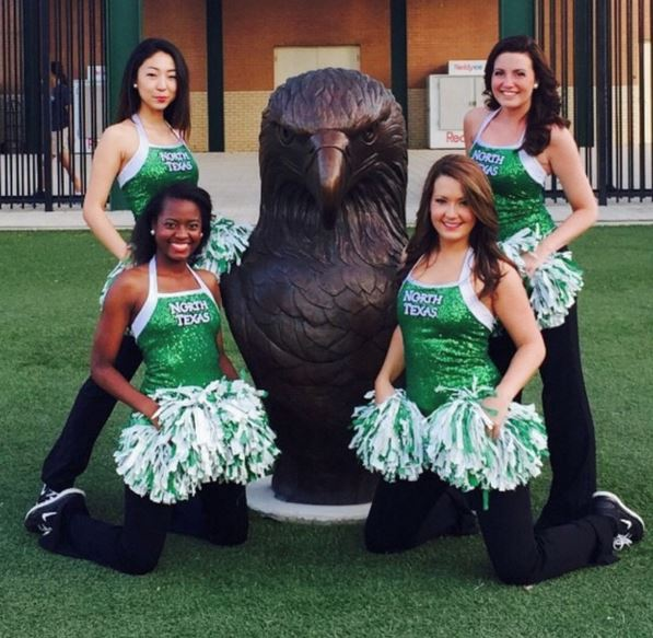 University of North Texas Dance team, sparkly tank top, The Line Up