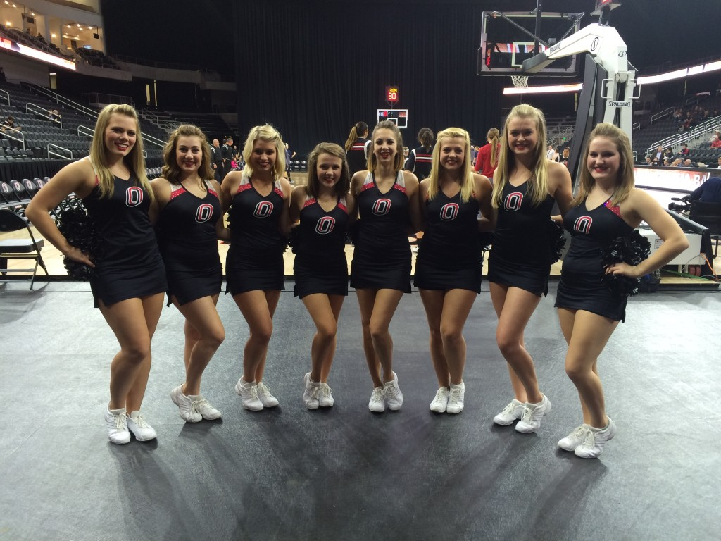 University of Nebraska Omaha Dance Team, black dress uniforms, The Line Up