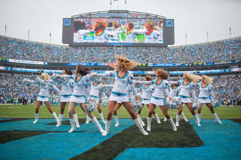 Carolina Panthers Cheerleaders Topcats uniform