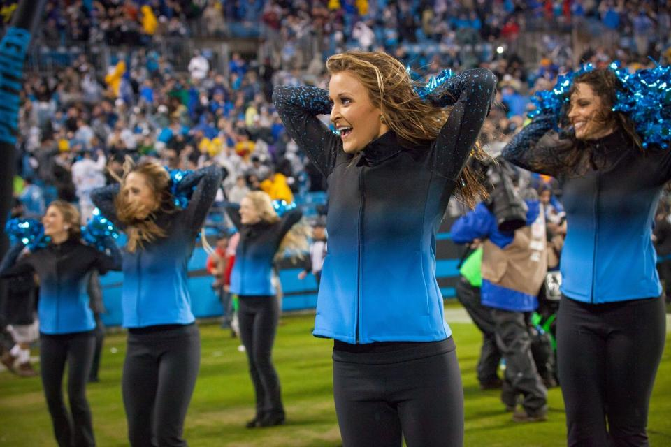 Ombre Embers Jacket Carolina Panthers Cheerleaders Topcats uniform