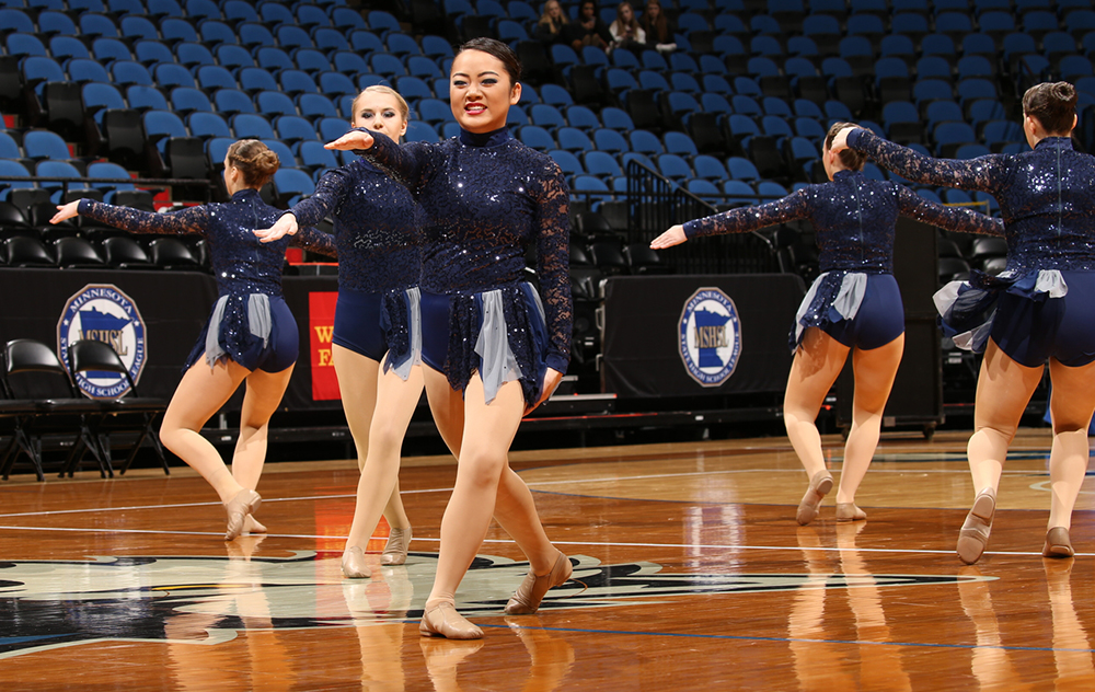 BOLD jazz navy sparkly costume, 2016, The Line Up