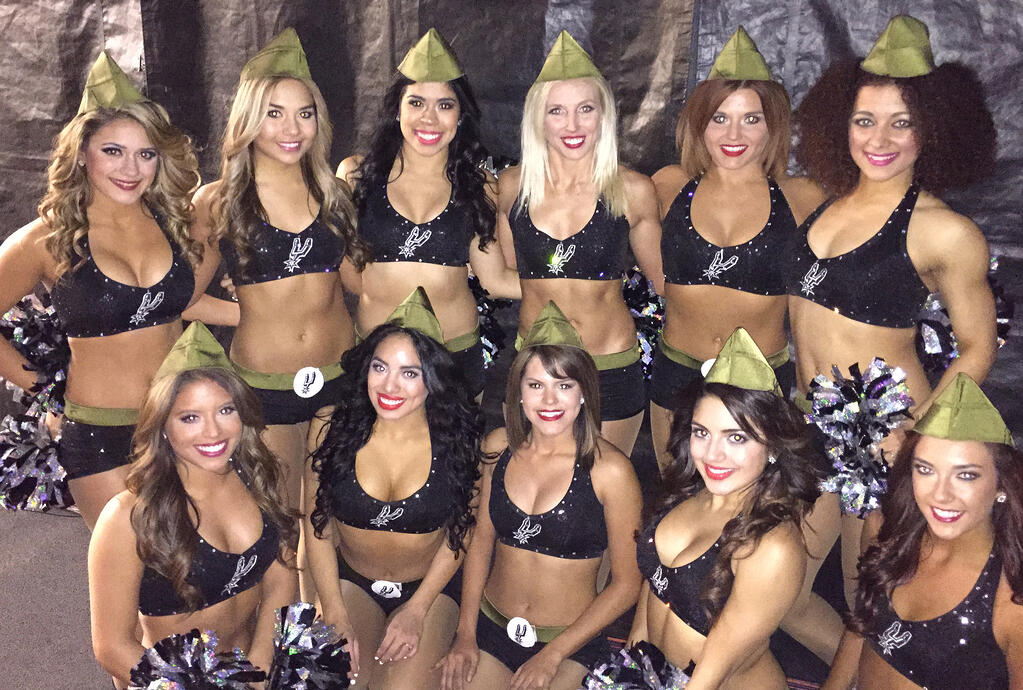 San Antonio Spurs Silver Dancers Military dance costume