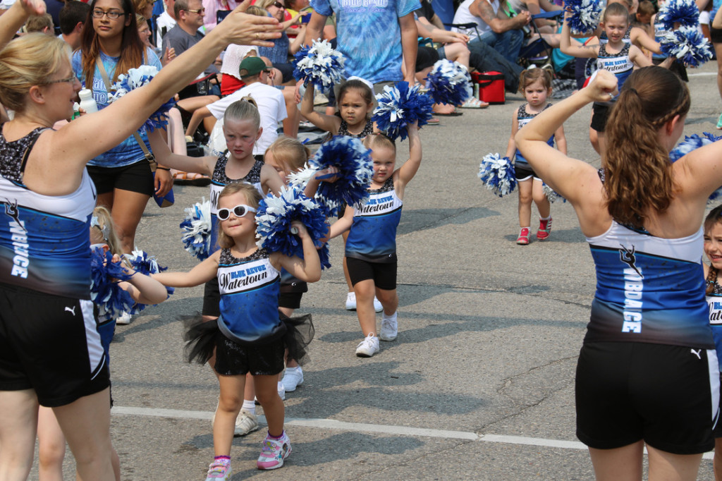Watertown Blue Revue parade