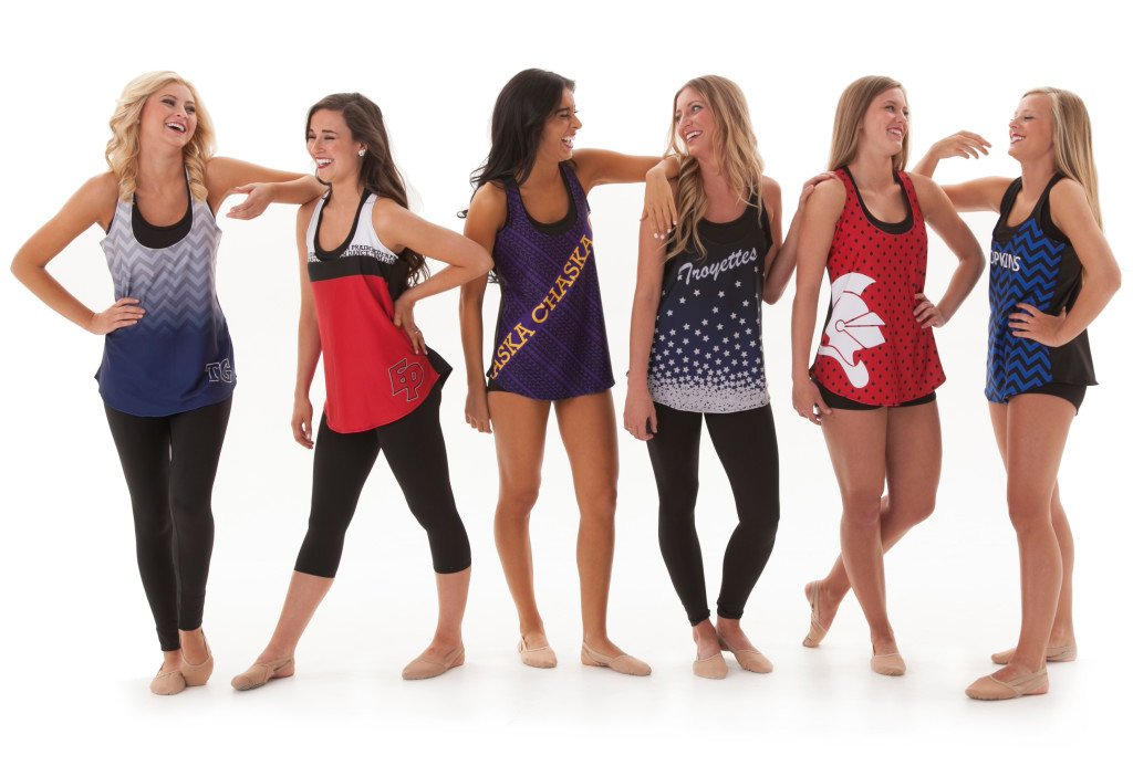 camp tank tops for dance team, loose fitting and slouchy