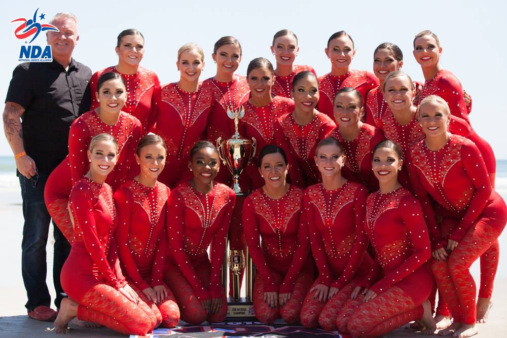 University of Louisville Ladybirds 2016 NDA national champions dance team