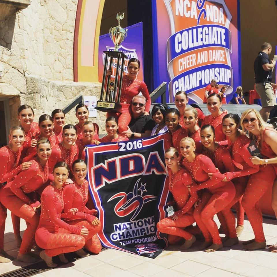Louisville Ladybirds Dance Team NDA Team Performance Champions & Coach Todd Sharp