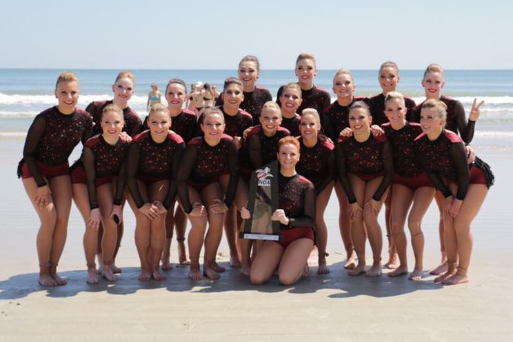 UMD Dance Team with 2nd place trophy