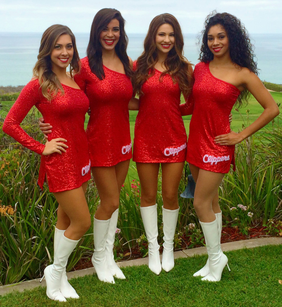 Clippers Spirit Dance Team new red dress