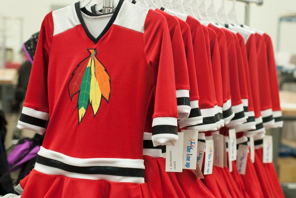 Beginner 1, Chicago Radiance, hockey theme, 2015, Blackhawks dress, The Line Up