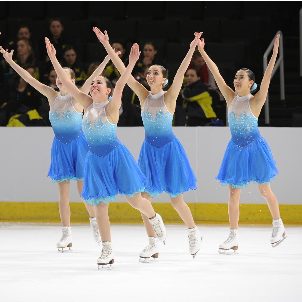 custom Frozen dresses, The Line Up, 2015 synchro nationals, synchronized skating, Team Delaware, Junior Short