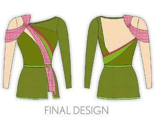 final design, The Line Up, Waupaca Dance Team, 2015