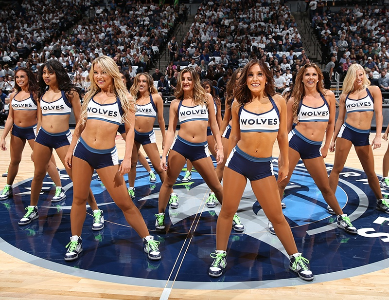 Timberwolves Dancers New Uniform