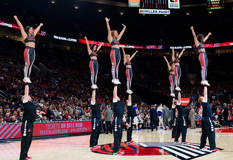 blazers stunt team uniforms
