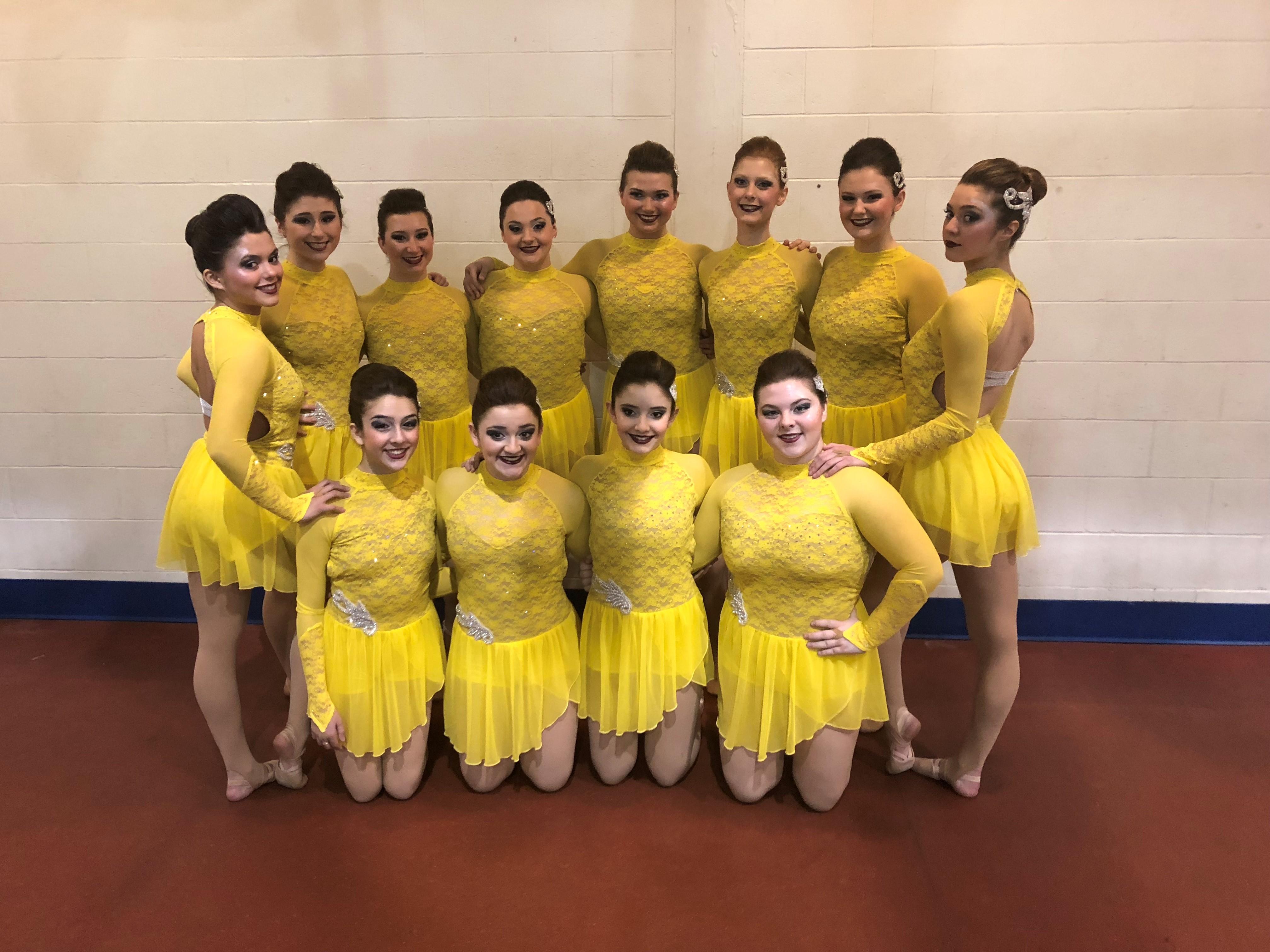 High school dance team custom jazz dress