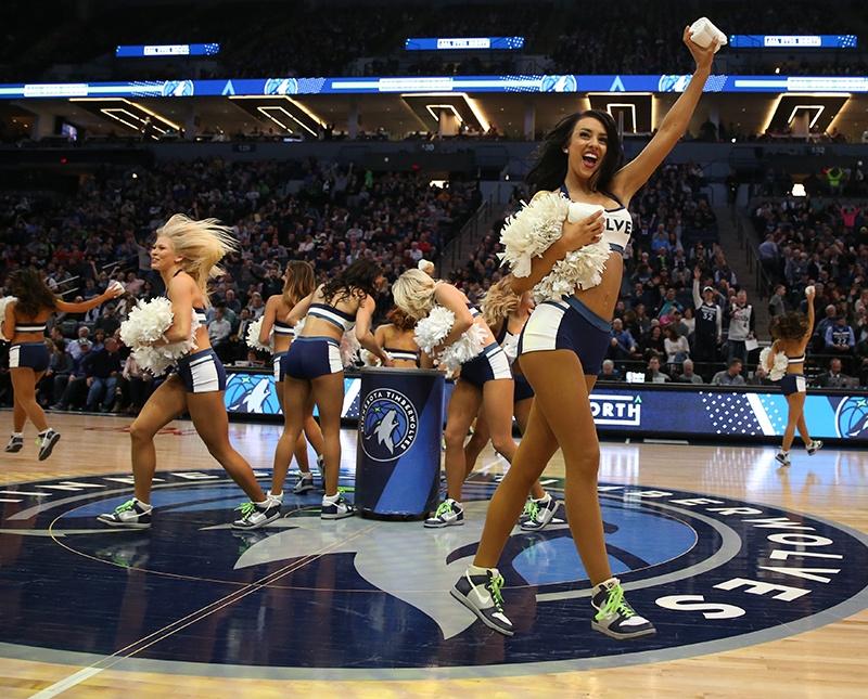 Timberwolves NBA Dancers 2 piece outfit