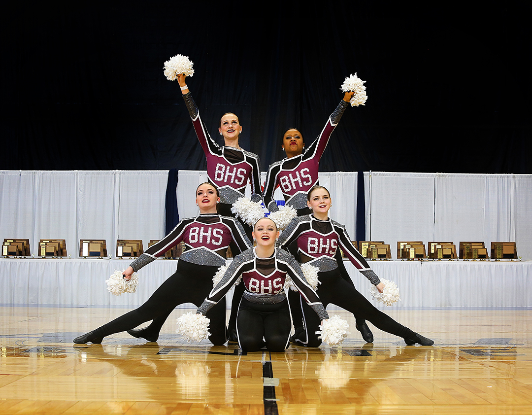 Bismarck Dance Team ND State Pom Uniforms