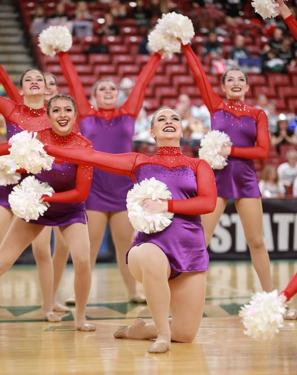 Eastlake Dance Team custom pom dress WA state