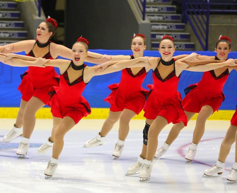 synrhonized skating dresses at eastern skating championships