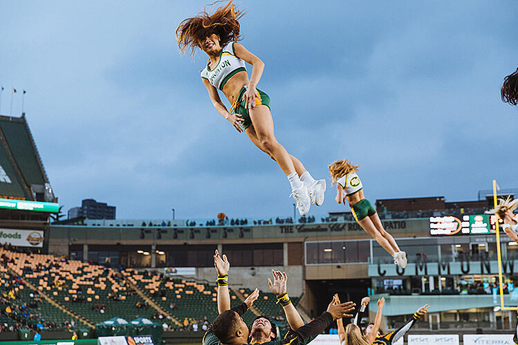 Edmonton Eskimos Pro Cheer Team CFL