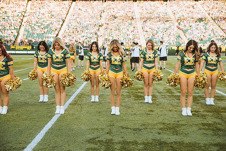 Edmonton eskimos cheer team professional cheer