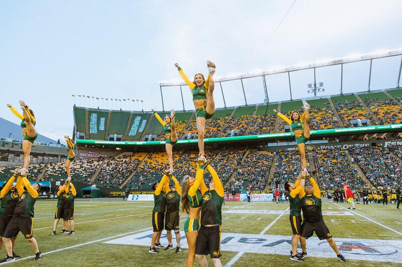 Edmonton Eskimos Professional CFL Cheer Team