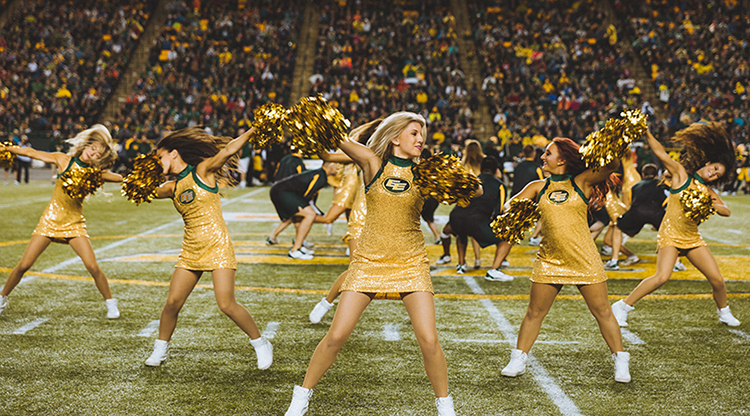 Custom pro cheer dresses Edmonton Eskimos