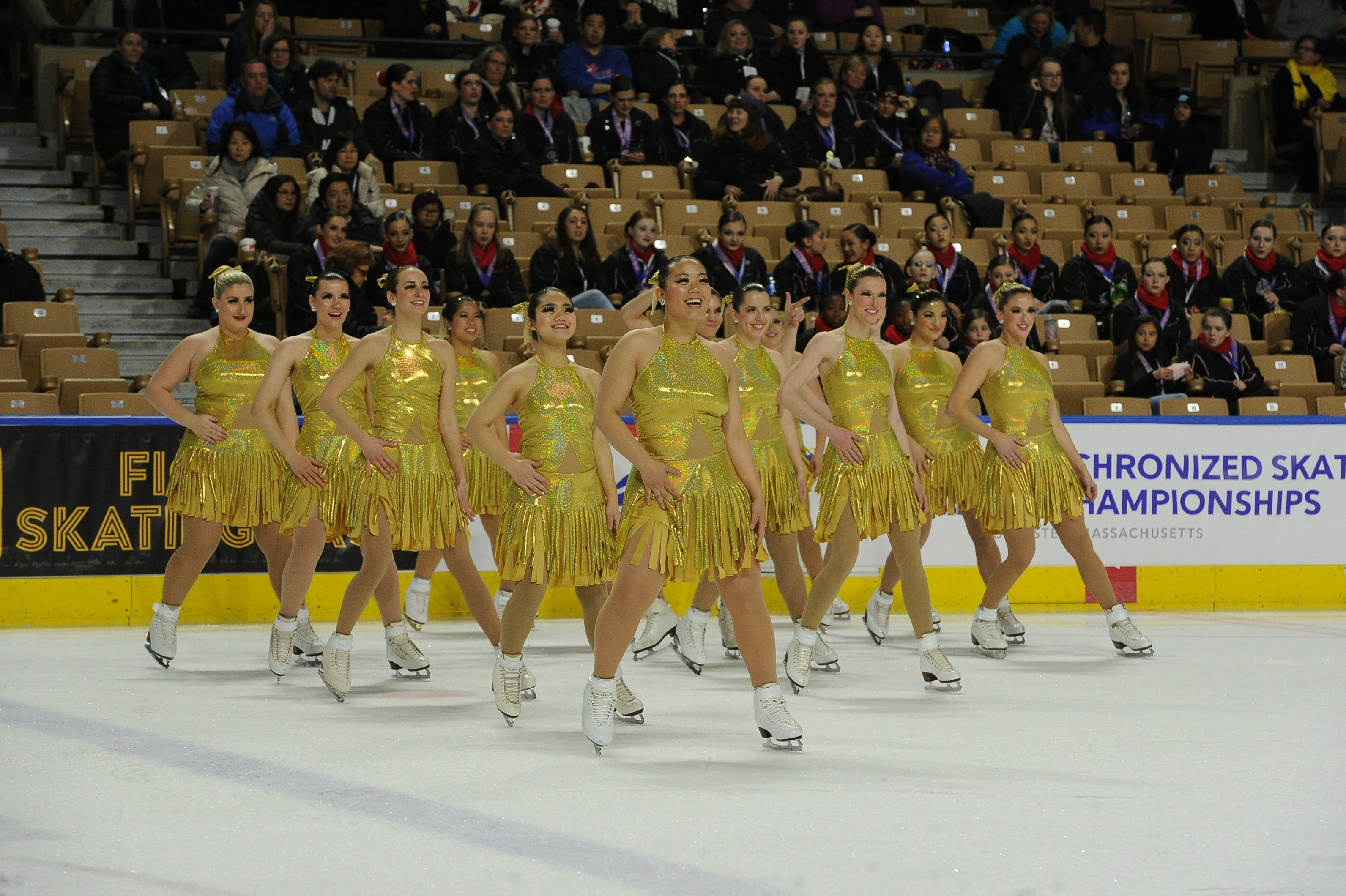 Gotham City Synchro custom synchronized skating dresses
