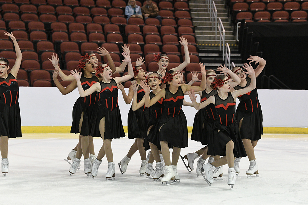 Hockettes Open Juvenile Synchronized Skating Team