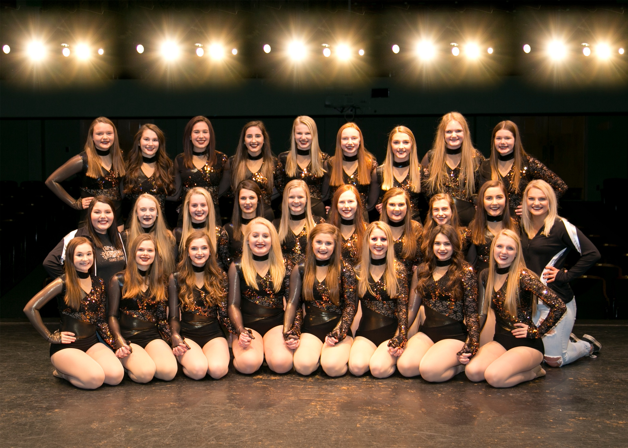 Lac Qui Parle Valley High School Dance Team High Kick costume