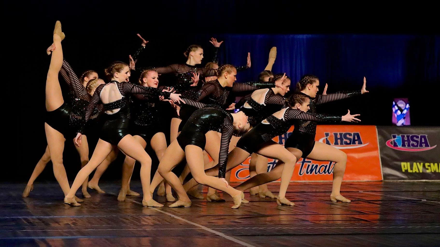 Morris Redskin Poms Dance Team Jazz Routine