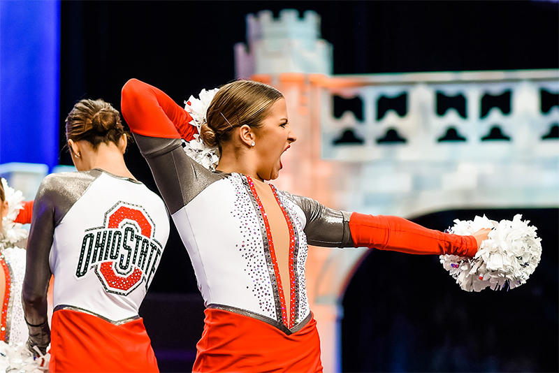 Ohio State Dance Team Pom Uniforms