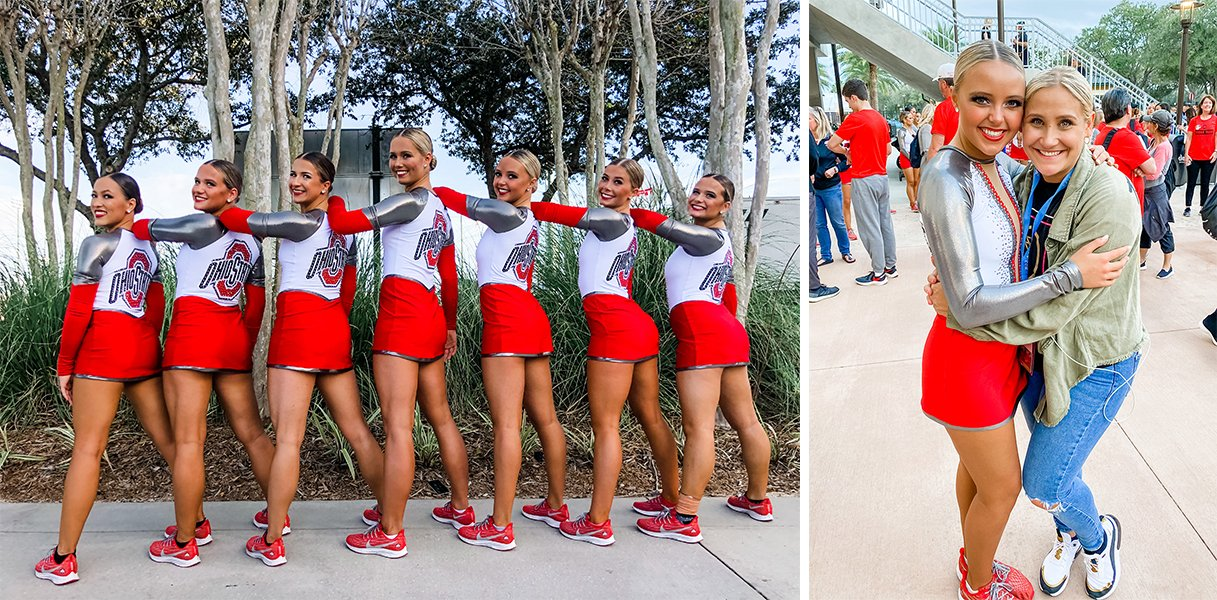 Ohio State Custom Pom Uniforms UDA Nationals