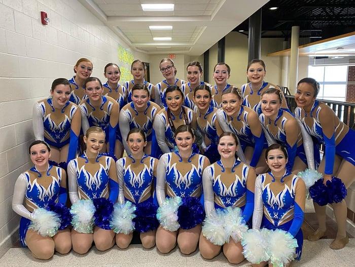 Oshkosh West Dance Team pom uniforms