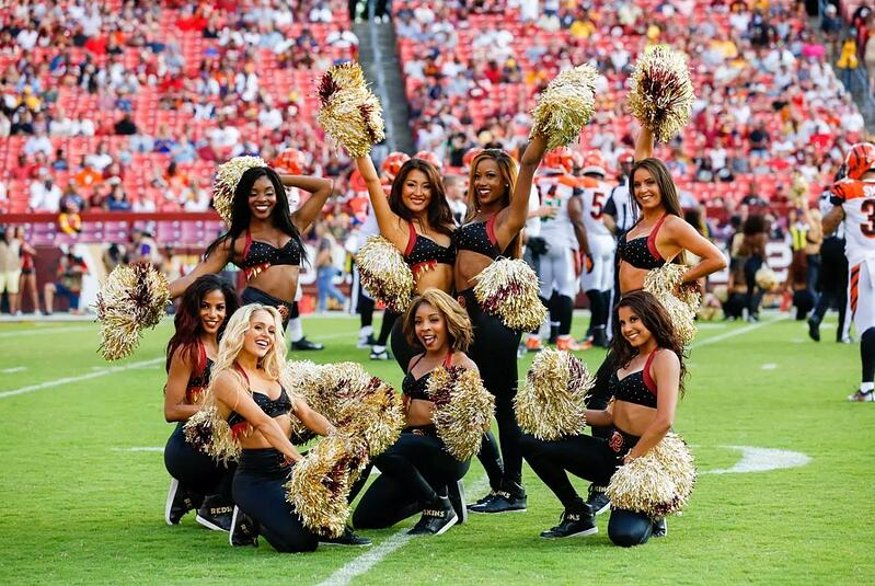 Redskins cheerleaders top and legging uniform