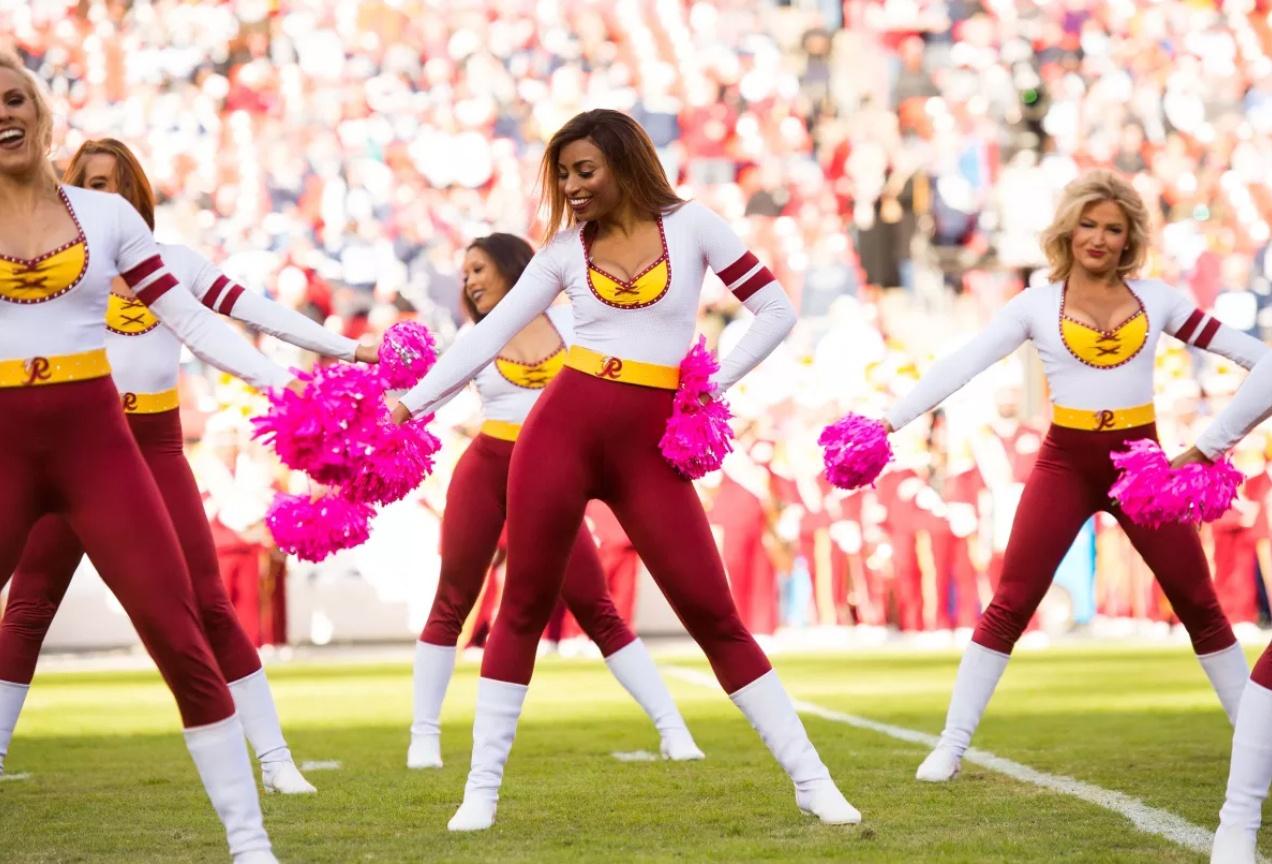 washington redskins cheerleaders custom uniform