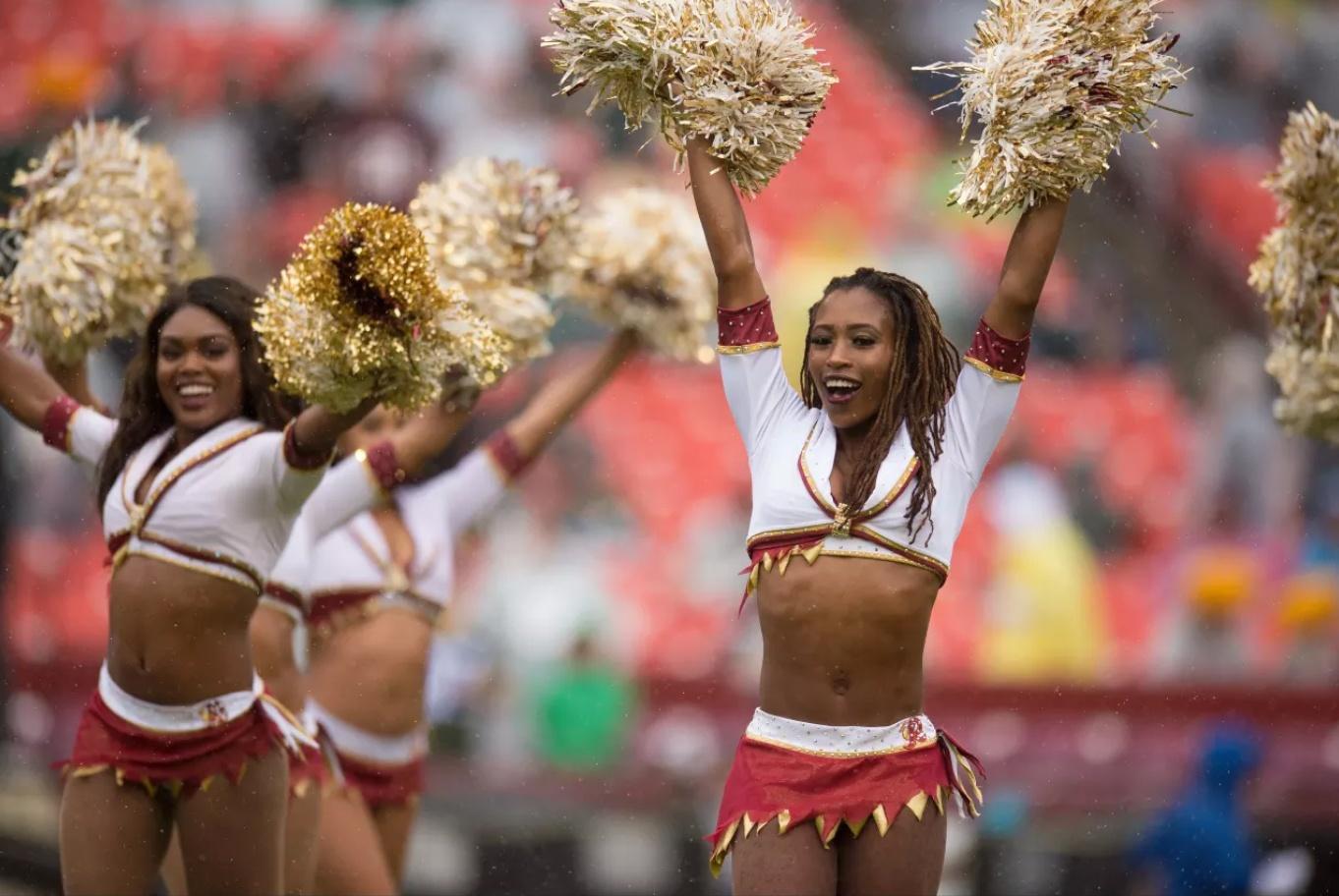 Redskins Pro Cheerleaders custom uniforms