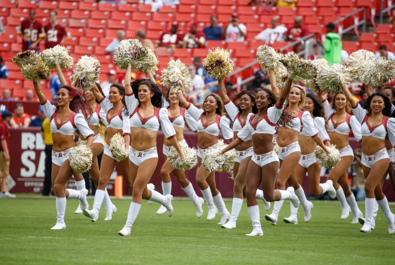 Washington Redskins Cheerleaders signature uniform