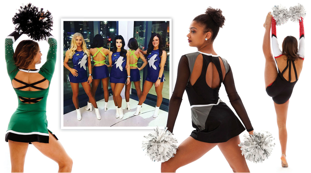 Custom cheer uniform with strappy back