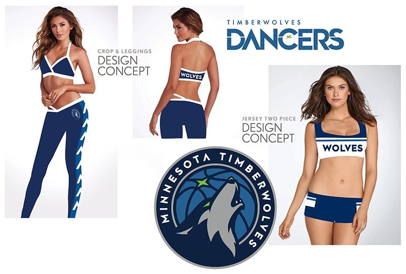Timberwolves Dancers New Uniform Concept